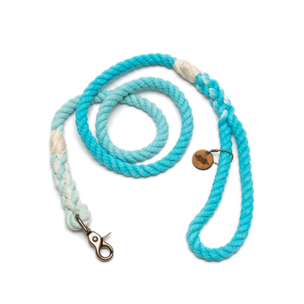 Turquoise Ombre Rope Leash