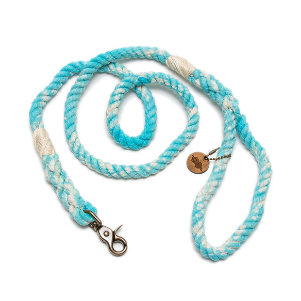 Turquoise Marbled Rope Leash
