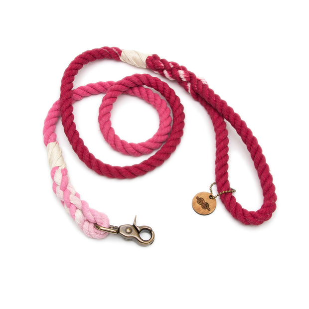 Merlot Ombre Rope Leash
