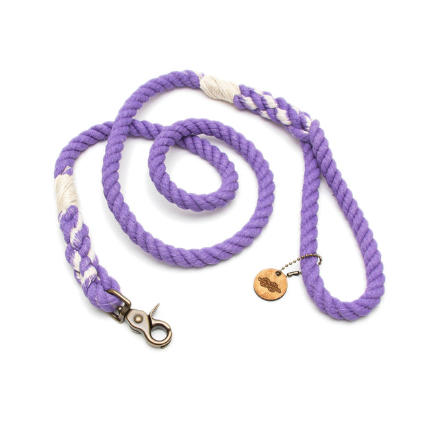 Lavender Rope Leash
