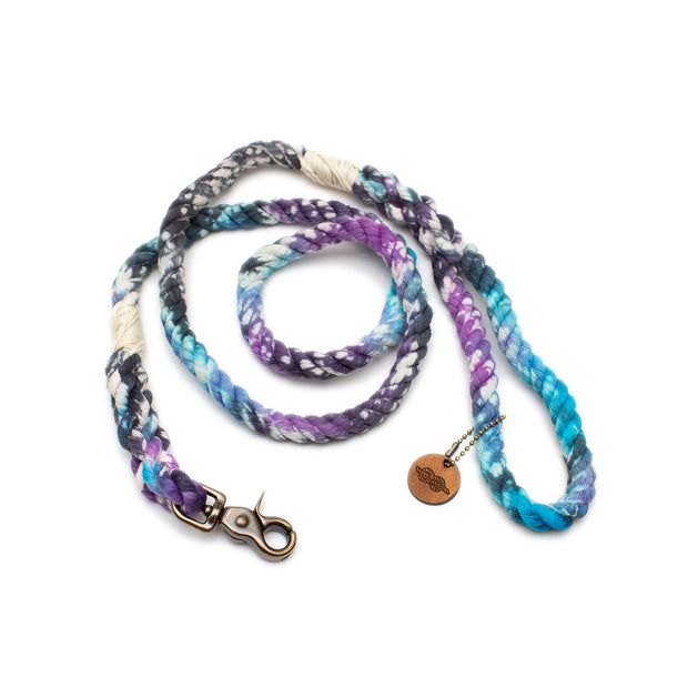 Galaxy Tie-Dye Rope Leash