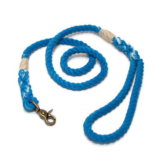 Green Trout Outfitters Rope Dog Leash Ocean Blue Bright Blue Cerulean