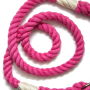 Bright Pink Wayfarer Leash-Rope Dog Leash-Green Trout Outfitters-Handmade-Eco Friendly-Dog Leash