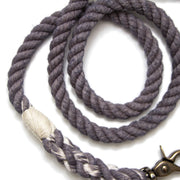 Charcoal Rope Leash-Rope Dog Leash-Green Trout Outfitters-Hand Dyed-Handmade-Dog Leash