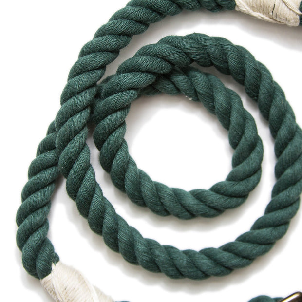 Evergreen Wayfarer Leash-Rope Dog Leash-Green Trout Outfitters-Handmade-Eco Friendly-Dog Leash