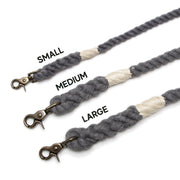 Grey Wayfarer Leash-Rope Dog Leash-Green Trout Outfitters-Handmade-Eco Friendly-Dog Leash