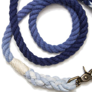 Navy Ombre Rope Leash-Rope Dog Leash-Green Trout Outfitters-Hand Dyed-Handmade-Dog Leash