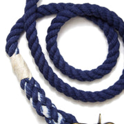 Navy Rope Leash-Rope Dog Leash-Green Trout Outfitters-Hand Dyed-Handmade-Dog Leash