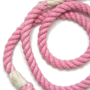 Powder Pink Rope Leash-Rope Dog Leash-Green Trout Outfitters-Hand Dyed-Handmade-Dog Leash
