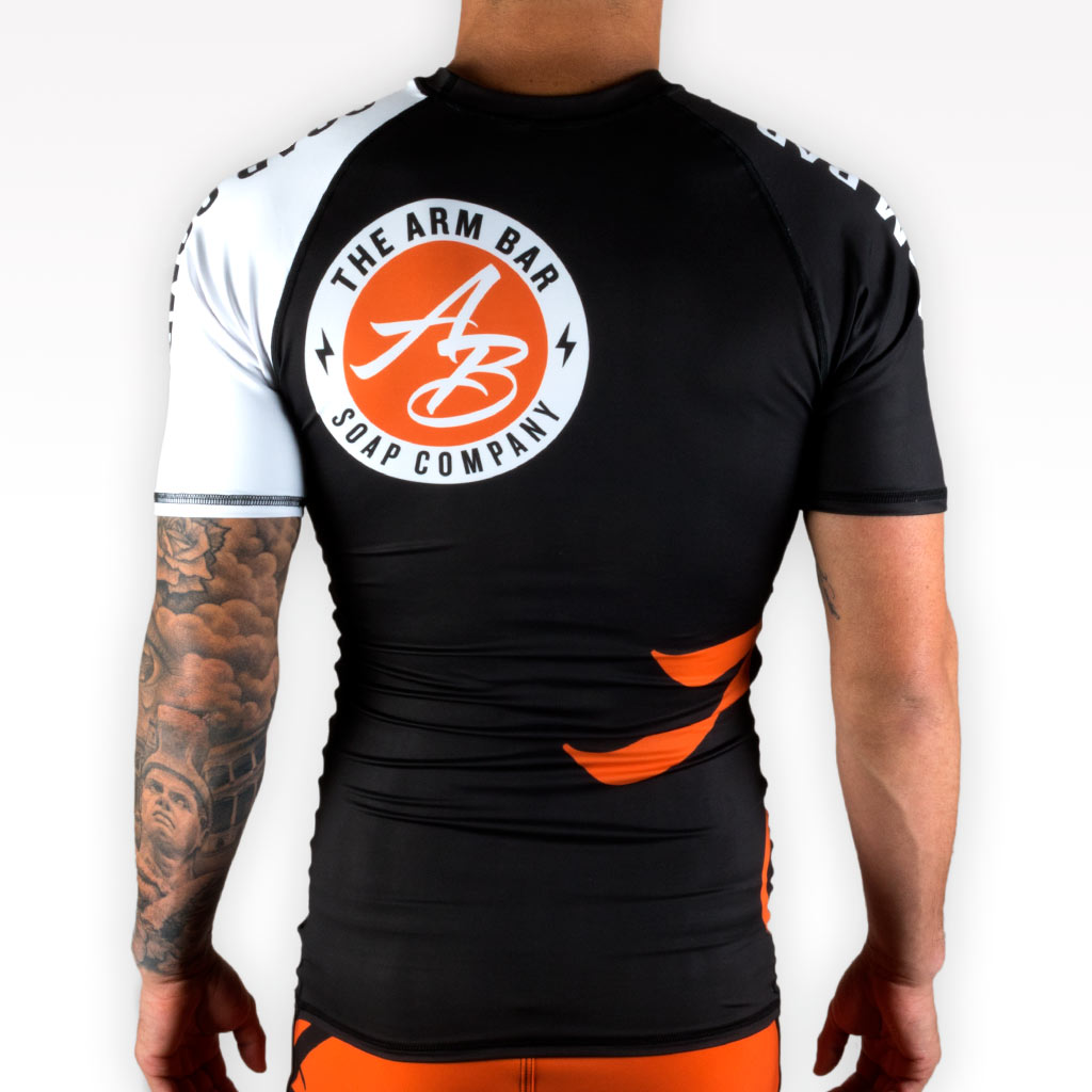 The Official Issue Short Sleeve Rash Guard - BLACK -  - The Arm Bar Soap Company