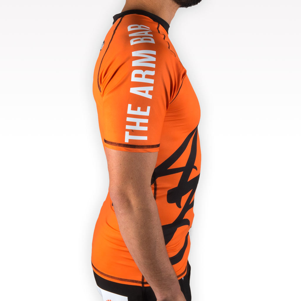 The Official Issue Short Sleeve Rash Guard - ORANGE