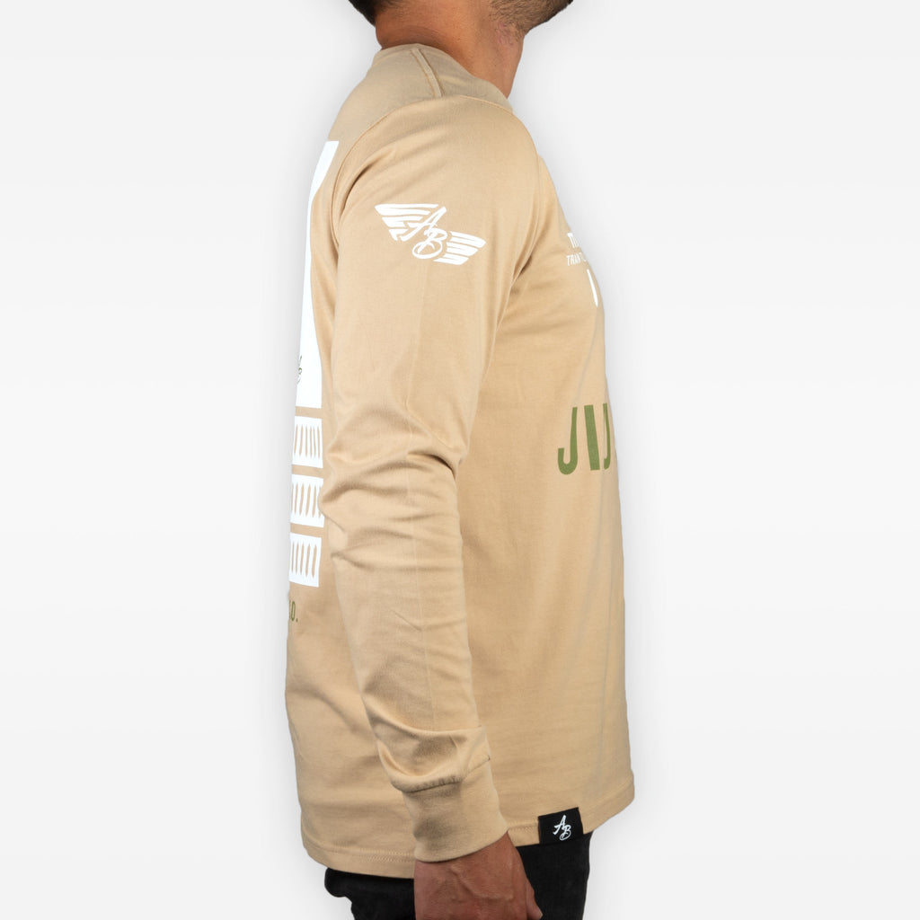 The Sword Pro Longsleeve - Tan + Olive - Apparel - The Arm Bar Soap Company