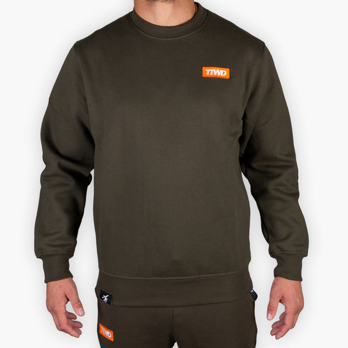 The One Speed Crew Sweatshirt - Army - Apparel - The Arm Bar Soap Company