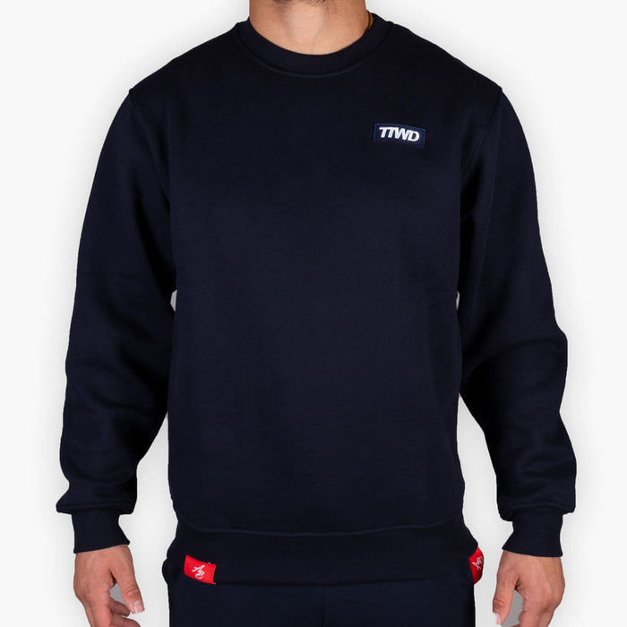 The One Speed Crew Sweatshirt - Navy -  - The Arm Bar Soap Company