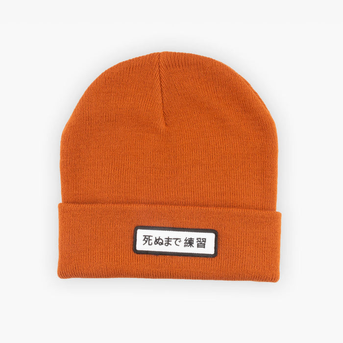 死ぬまで練習 Cuff Beanie - RUST - Accessories - The Arm Bar Soap Company