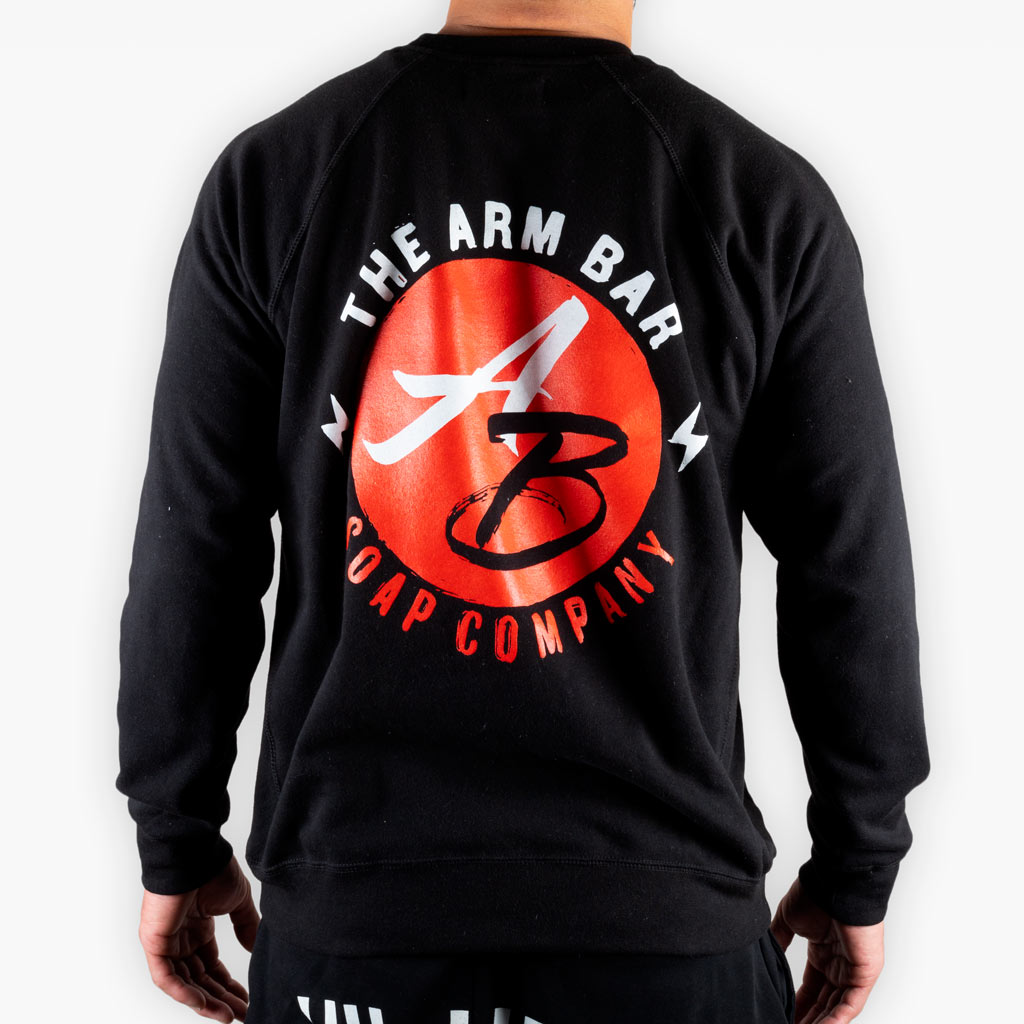 The Painted Logo Sweatshirt - Black - Apparel - The Arm Bar Soap Company