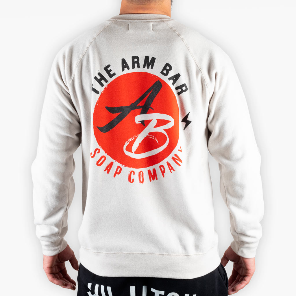 The Painted Logo Sweatshirt - Stone - Apparel - The Arm Bar Soap Company