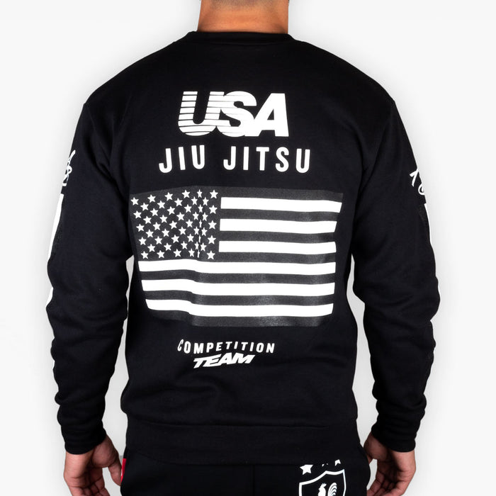 The USA Competition Crew Sweatshirt - Black + White - Limited Edition - Apparel - The Arm Bar Soap Company