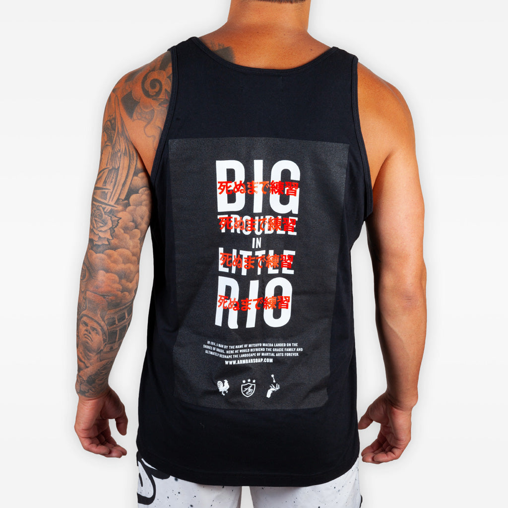 The Big Trouble in Little Rio Tank (limited edition) - Black - Apparel - The Arm Bar Soap Company