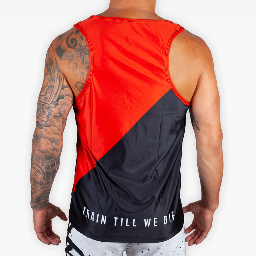 V4 Training Tank - Crimson + Black - Apparel - The Arm Bar Soap Company