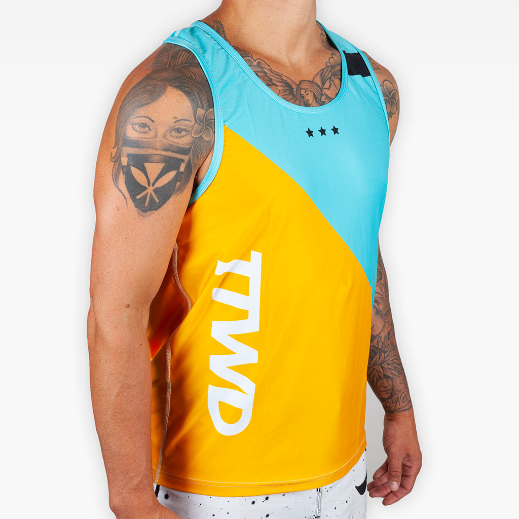 V4 Training Tank - Teal + Tangerine -  - The Arm Bar Soap Company