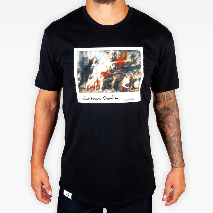 Certain Death Tee - Black - Apparel - The Arm Bar Soap Company