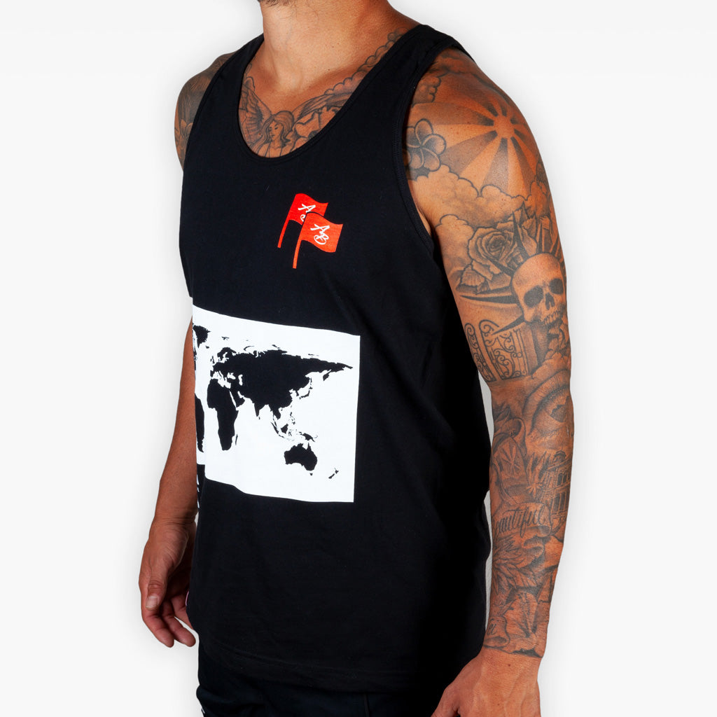 The Worldwide Tank - Black - Apparel - The Arm Bar Soap Company