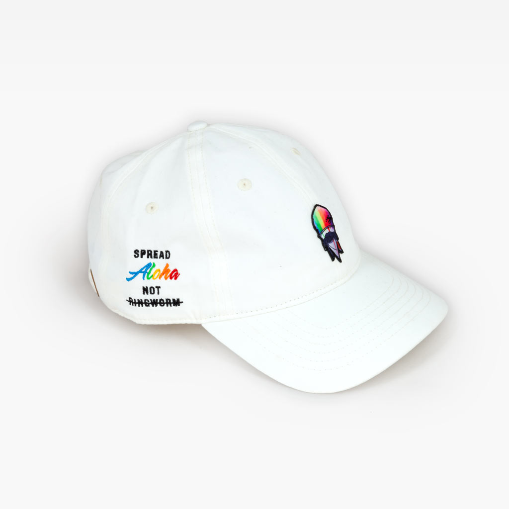 The Spread Aloha dad hat - Natural White - Accessories - The Arm Bar Soap Company