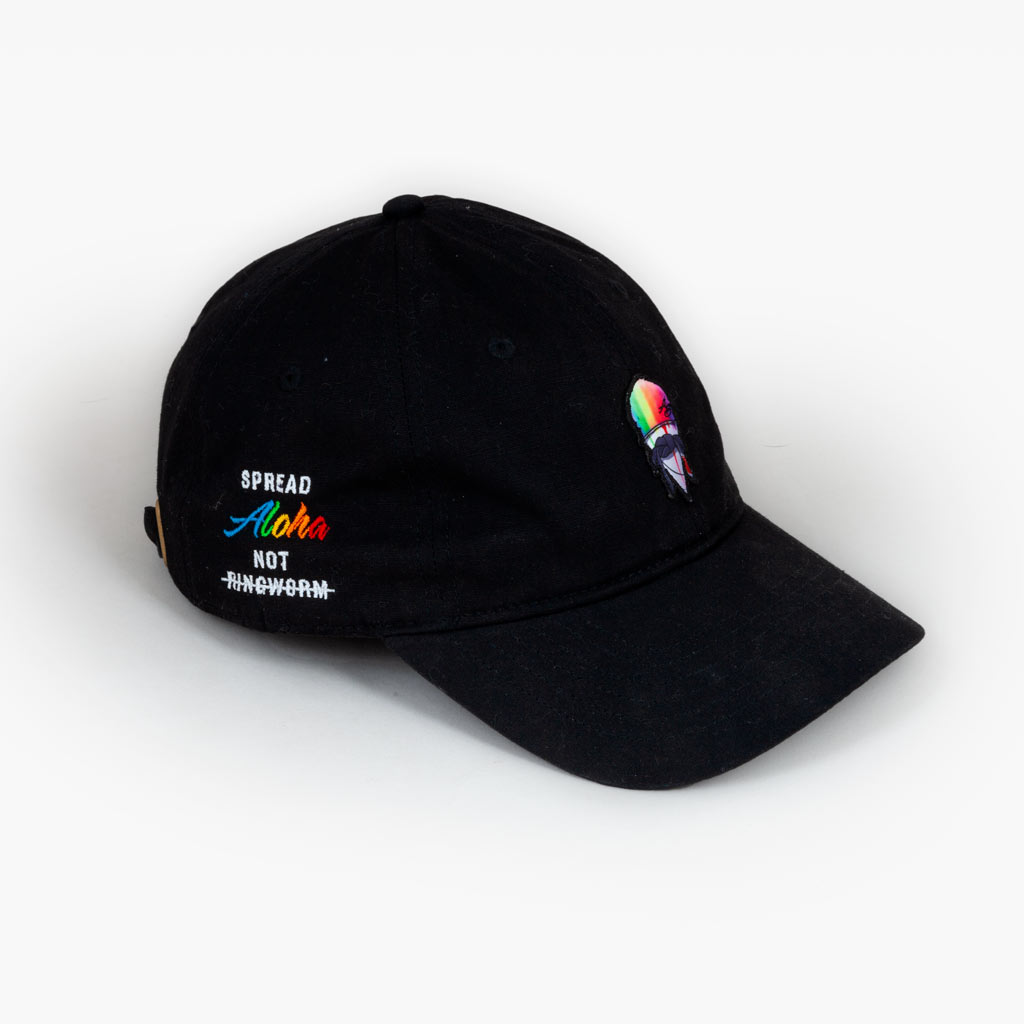 The Spread Aloha dad hat - Black - Accessories - The Arm Bar Soap Company