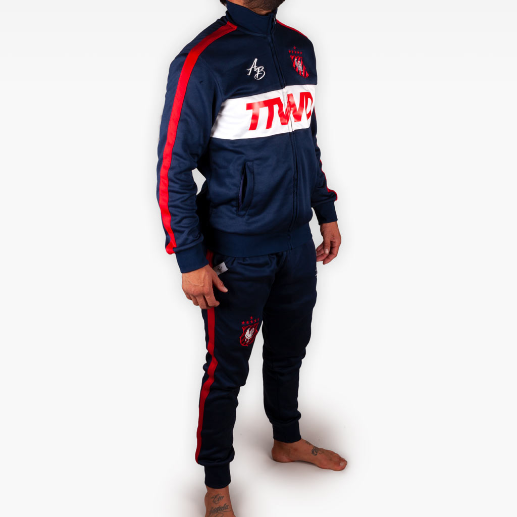 The Official Issue Track Suit - NAVY - Apparel - The Arm Bar Soap Company