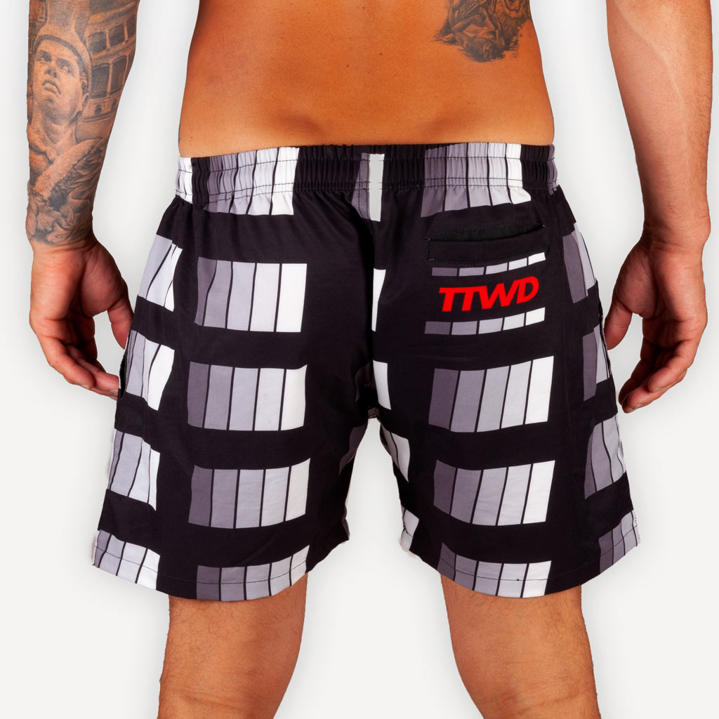 The New Wave Beach Shorts - DARK SCALE -  - The Arm Bar Soap Company