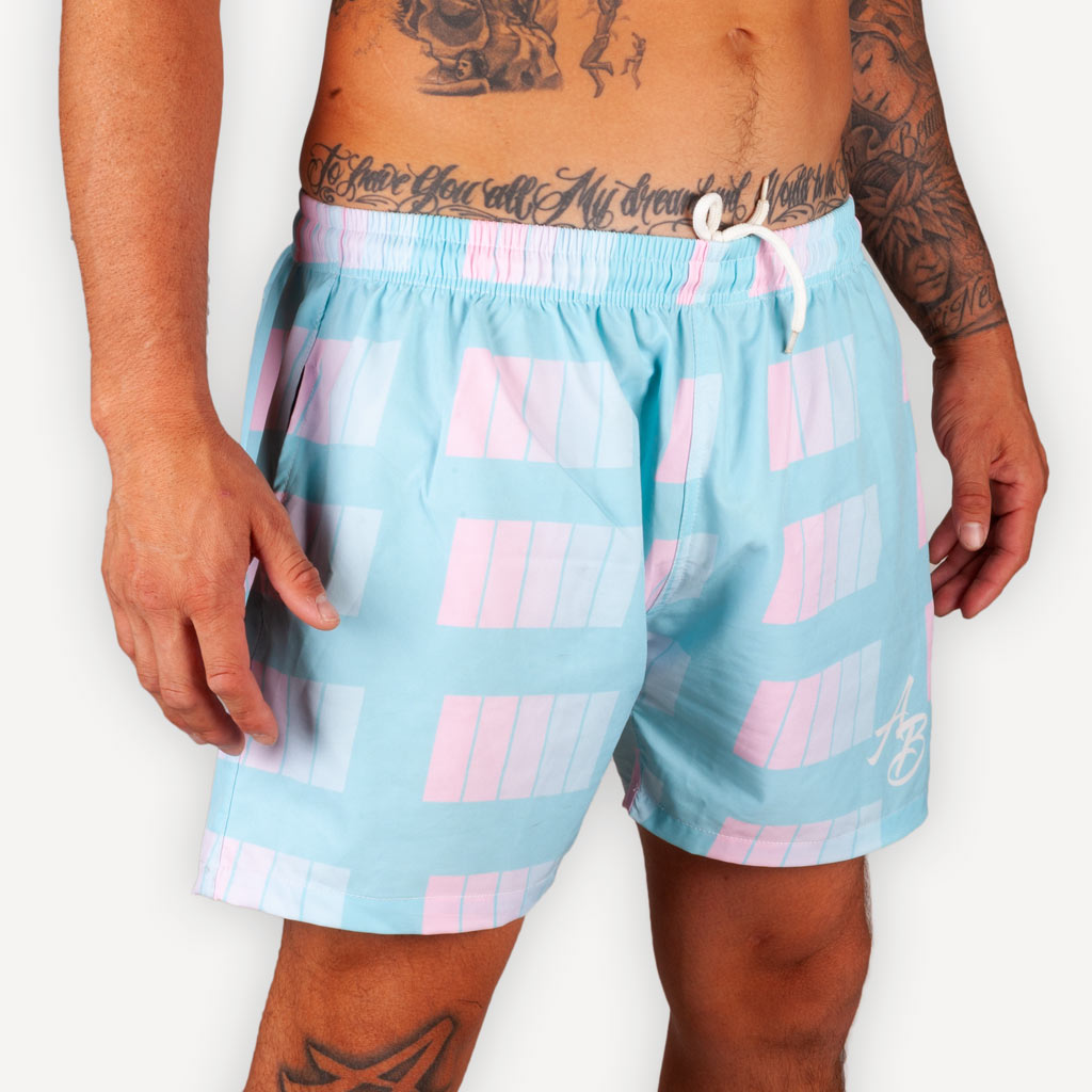 The New Wave Beach Shorts - MIAMI -  - The Arm Bar Soap Company