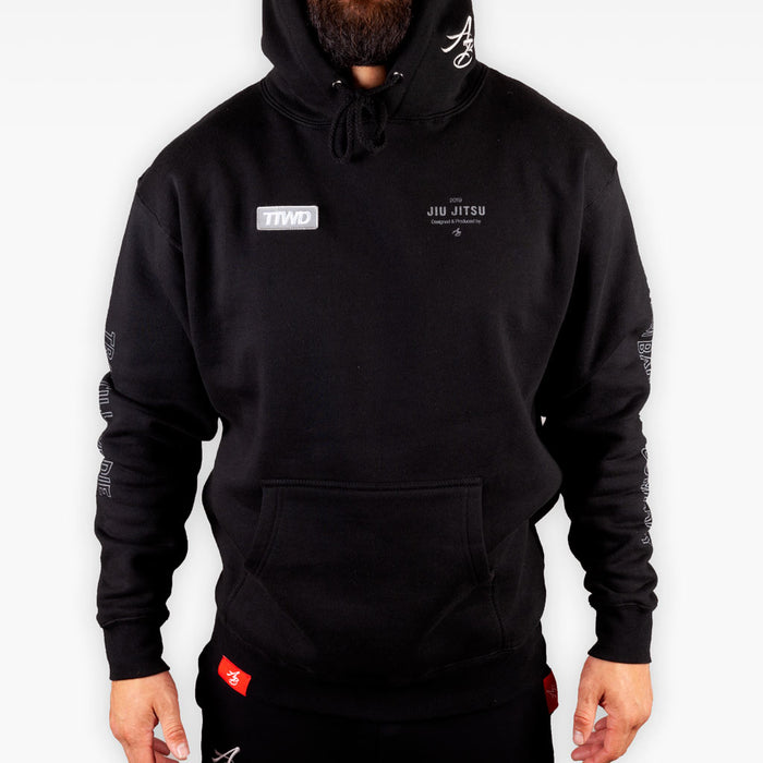 The Official Issue Hoodie 7 - 3M FlashTrans Ink on Black - Apparel - The Arm Bar Soap Company