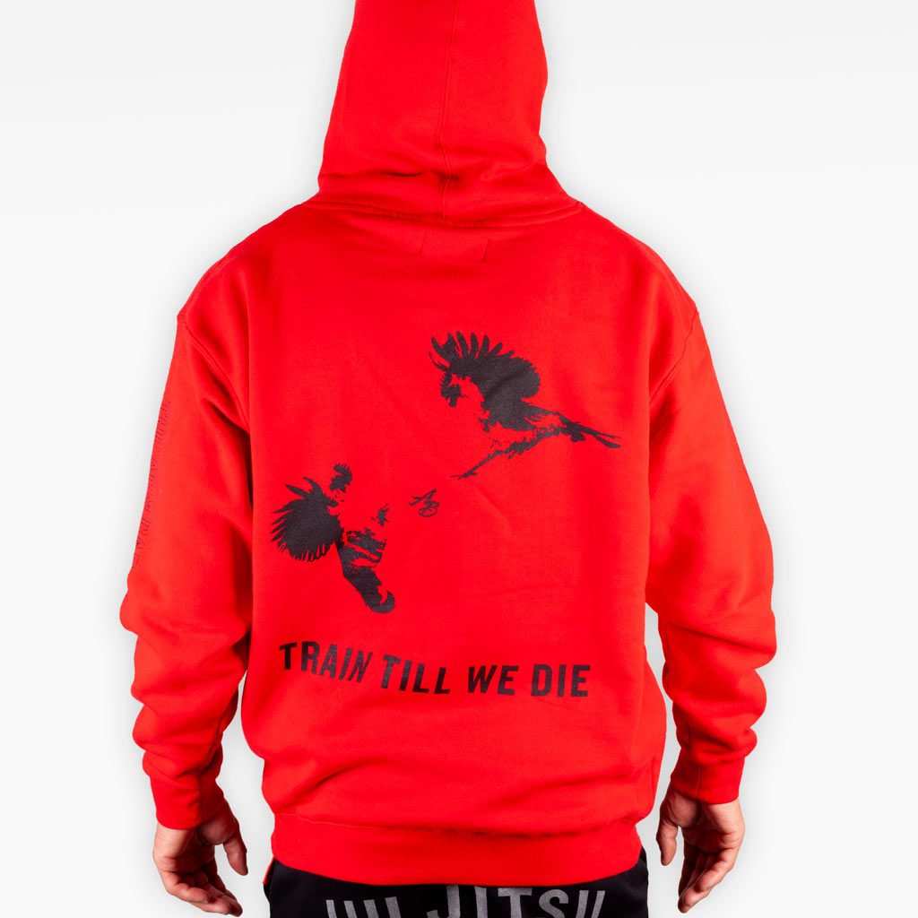 The Official Issue Hoodie 7 - Crimson - Apparel - The Arm Bar Soap Company
