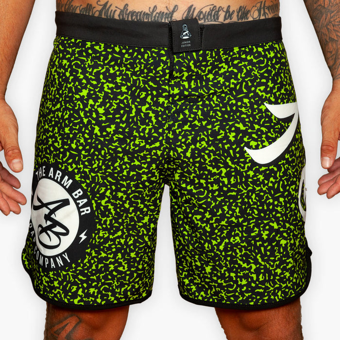 The Composition Book Training Shorts - Junior Edition - Volt Green - Apparel - The Arm Bar Soap Company
