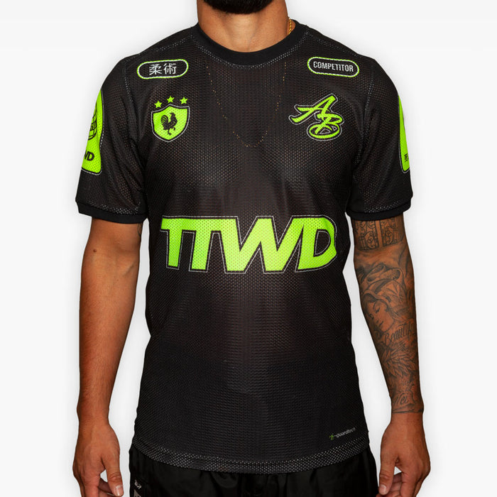 Training Jersey - Black + Fluorescent Green