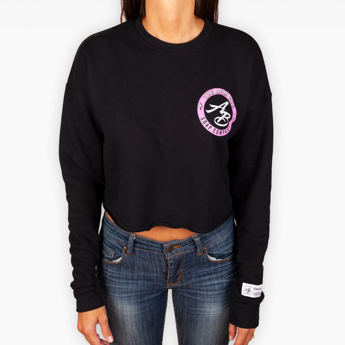 The Town + Country Crop Top Fleece Sweatshirt - Apparel - The Arm Bar Soap Company