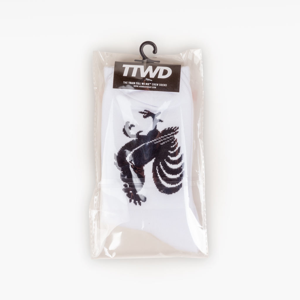 The TTWD Crew Socks - White - Accessories - The Arm Bar Soap Company