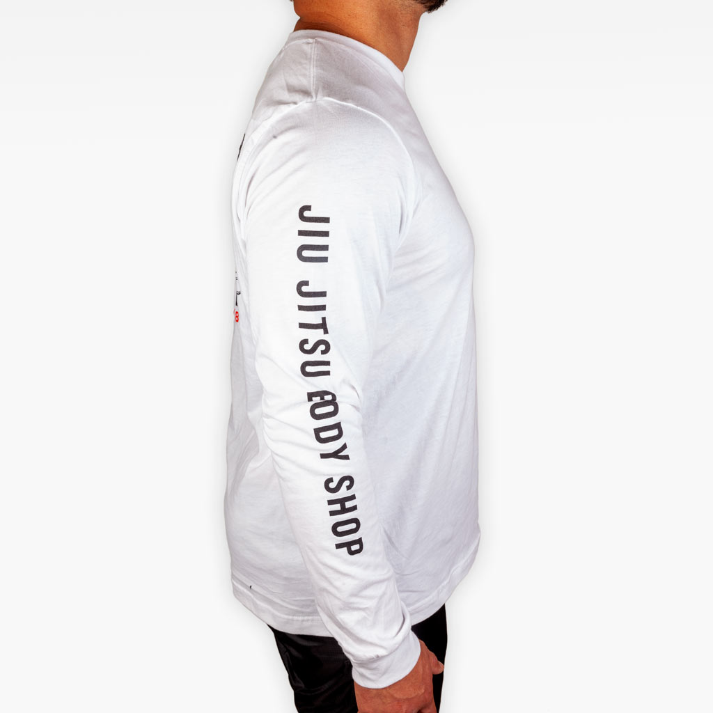 THE BODY SHOP LONGSLEEVE TEE - WHITE - Apparel - The Arm Bar Soap Company