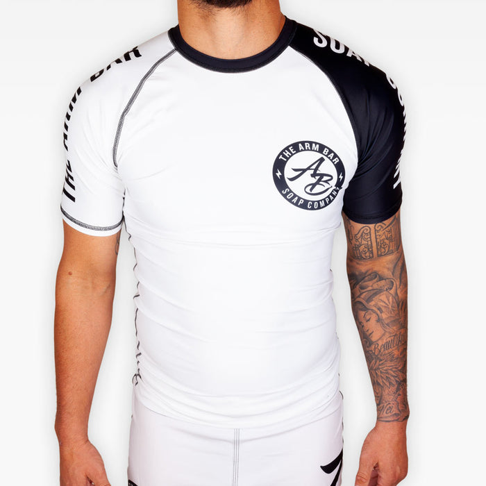 No Gi Competition Rashguard - White - Apparel - The Arm Bar Soap Company