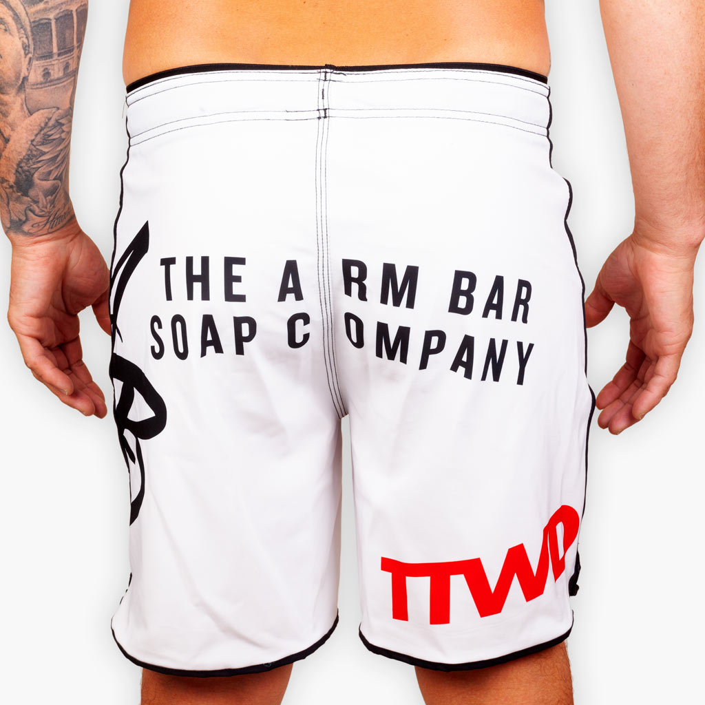 Hybrid No Gi Competition Shorts - White - Apparel - The Arm Bar Soap Company