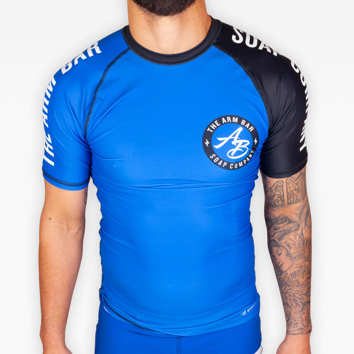 No Gi Competition Rashguard - Blue - Apparel - The Arm Bar Soap Company