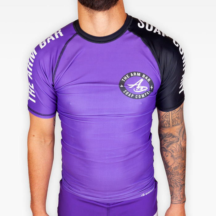 No Gi Competition Rashguard - Purple - Apparel - The Arm Bar Soap Company