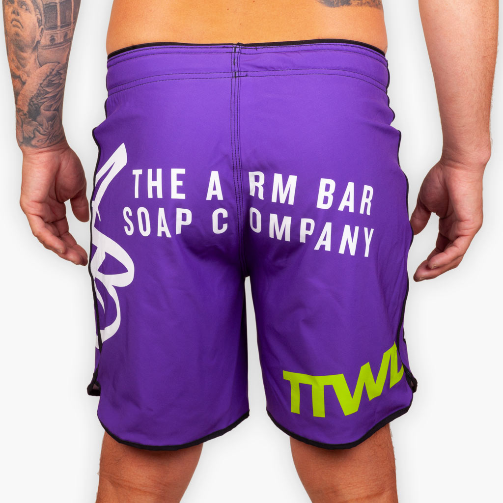 Hybrid No Gi Competition Shorts - Purple - Apparel - The Arm Bar Soap Company