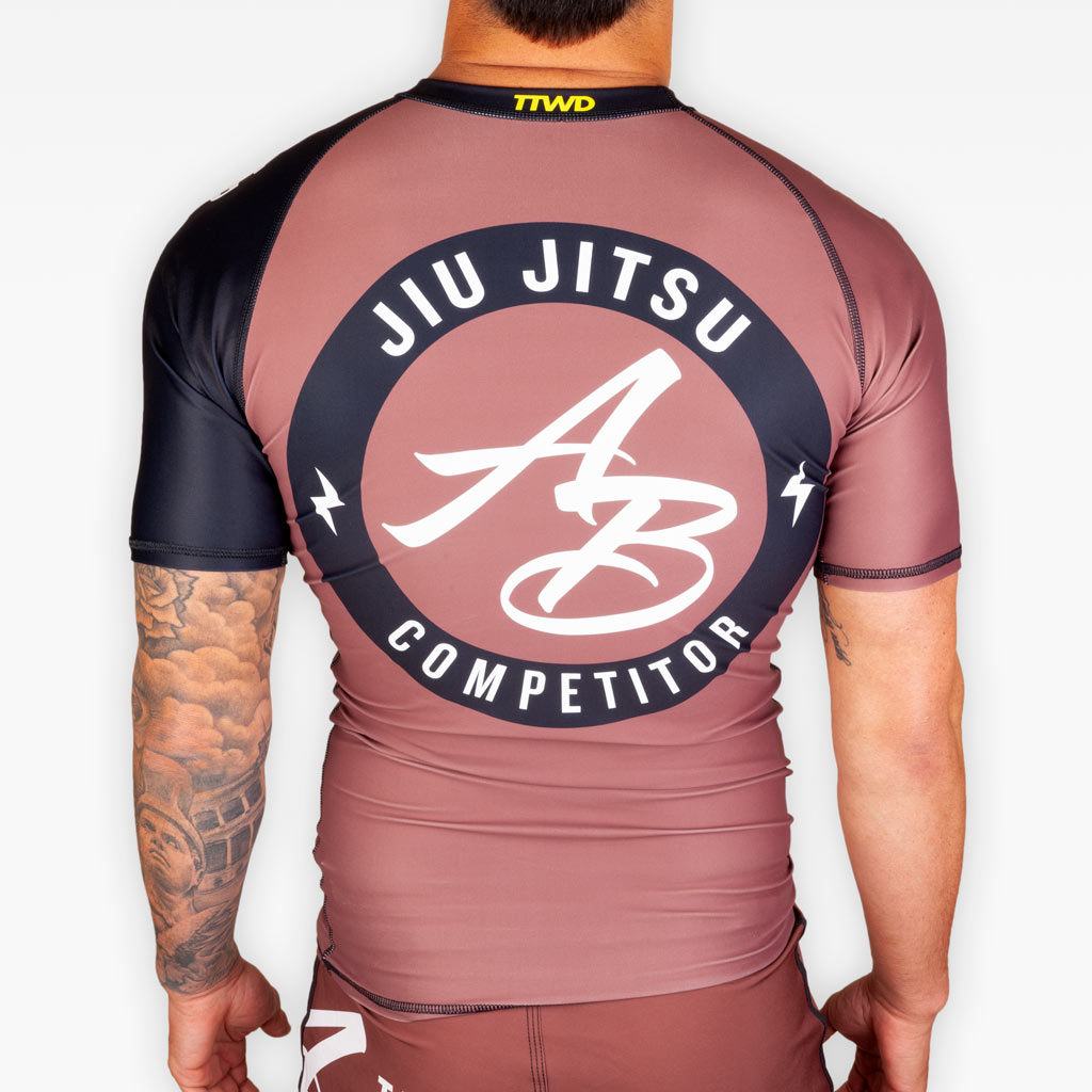 No Gi Competition Rashguard - Brown - Apparel - The Arm Bar Soap Company