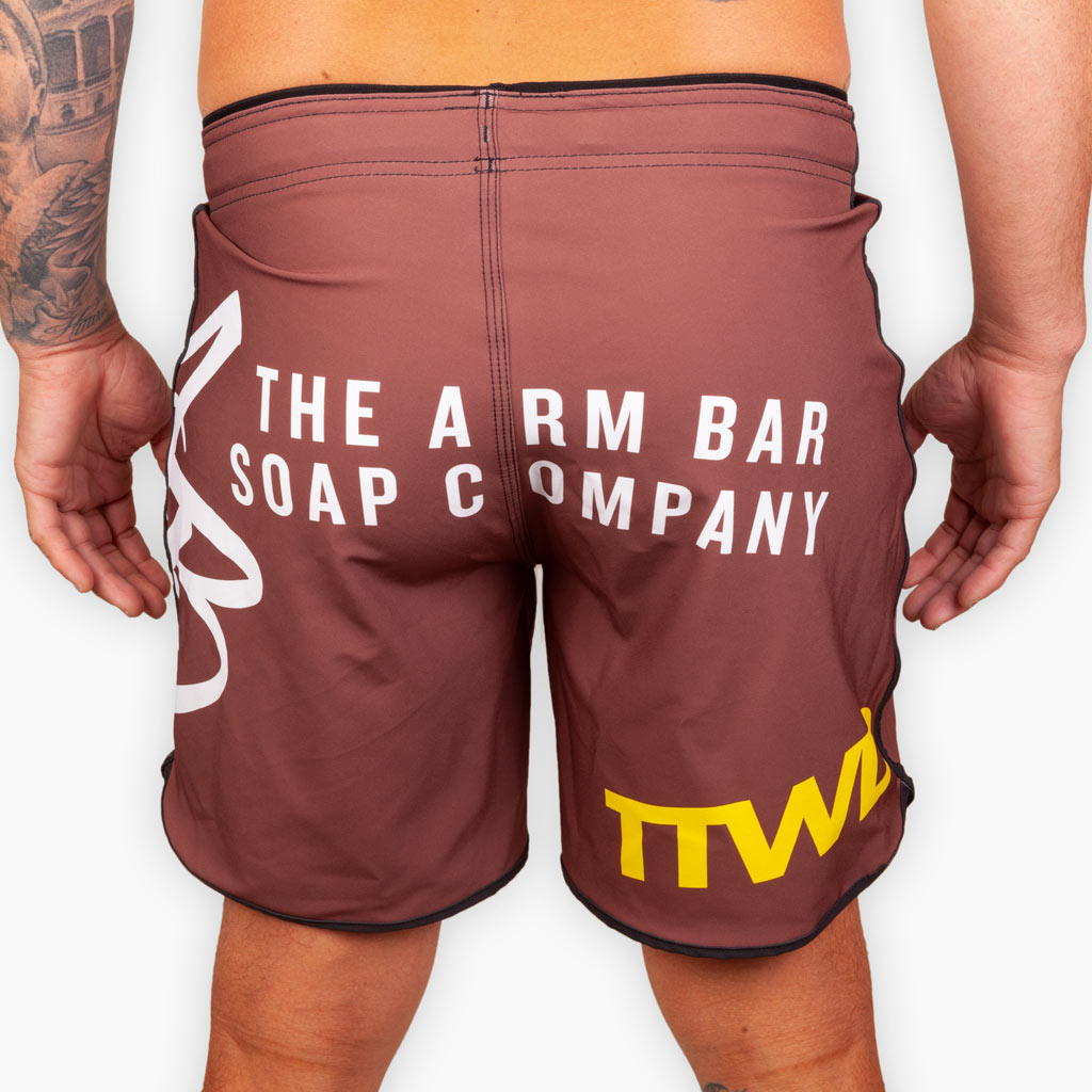 Hybrid No Gi Competition Shorts - Brown - Apparel - The Arm Bar Soap Company