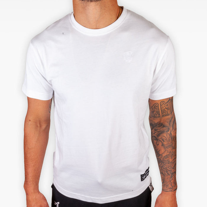 The Signature Rooster Supima® Tee - White - Apparel - The Arm Bar Soap Company