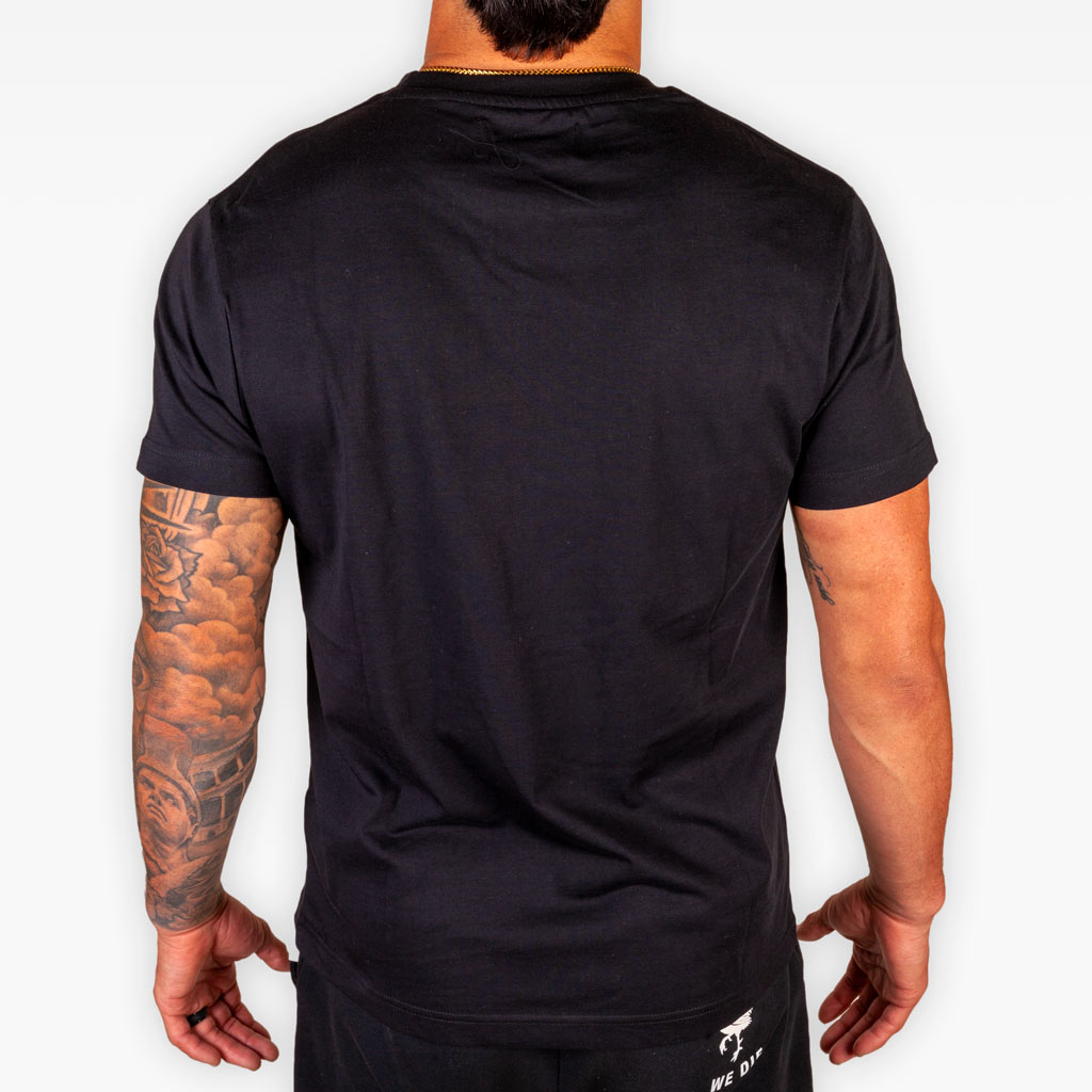 The Signature Rooster Supima® Tee - Black - Apparel - The Arm Bar Soap Company
