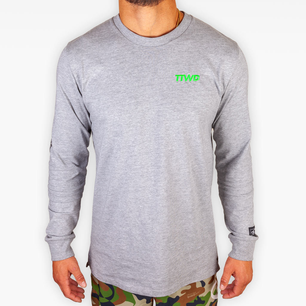 The All We Know Longsleeve Tee - Heather Grey - Apparel - The Arm Bar Soap Company