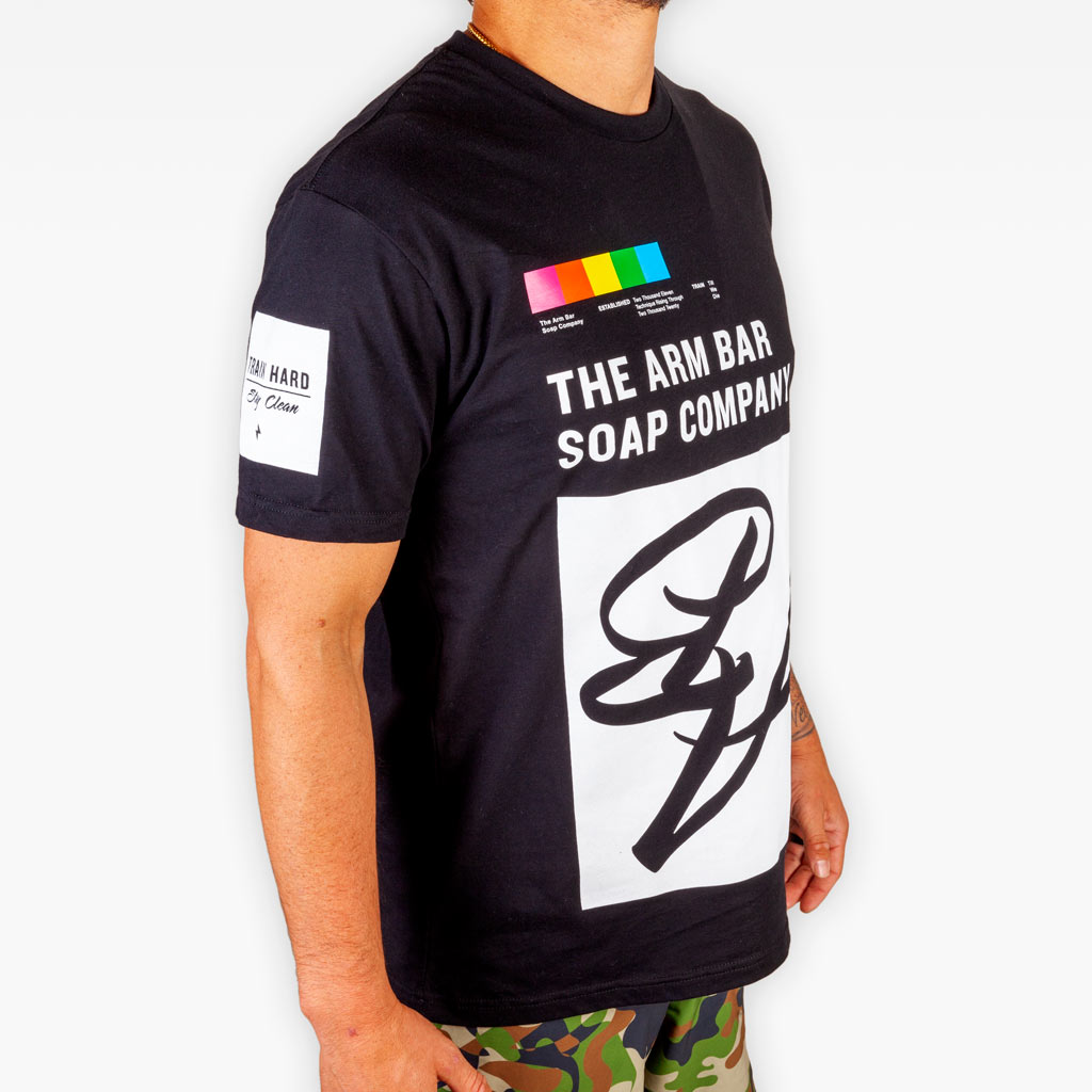 The Upside Down Tee V2 - Black - Apparel - The Arm Bar Soap Company